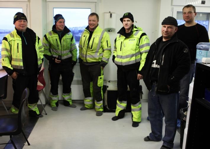 Groundbreakers posing in their sparkling clean office in their best woolly socks © Karoline Hjorth & Riitta Ikonen